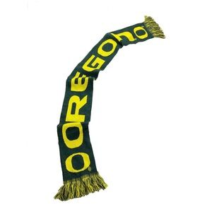 University of Oregon Green Yellow Knit Scarf J41